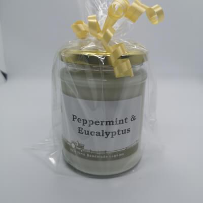 Peppermint & Eucalyptus 100% Soy Wax Candle