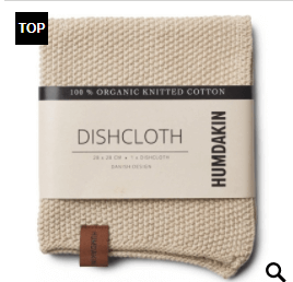 Humdakin - Organic Cotton Knitted Dishcloth Light Stone