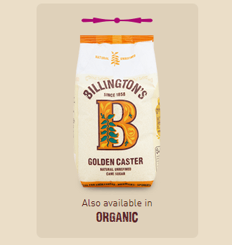 Billingtons Organic Golden Caster Sugar Unrefined500g