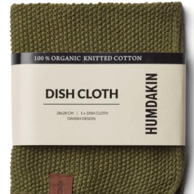 Humdakin - Organic Cotton Knitted Dishcloth Fern