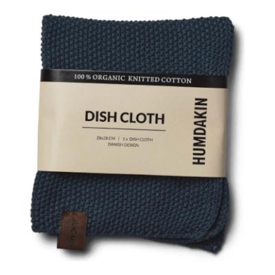 Humdakin - Organic Cotton Knitted Dishcloth Sea Blue