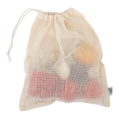 Organic Cotton Fruit And Vegetable Bag - Set Of 2 Bags