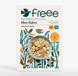 Freee By Doves Farm Gluten Free Organic Fibre Flakes 375G