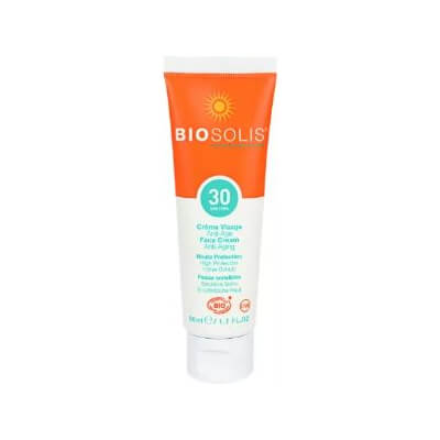 Biosolis Organic Sunscreen Face Cream Spf30 / Anti-Aging 50Ml