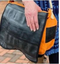 Cycle Of Good - Recycled Inner Tube & Canvas Courier Bag