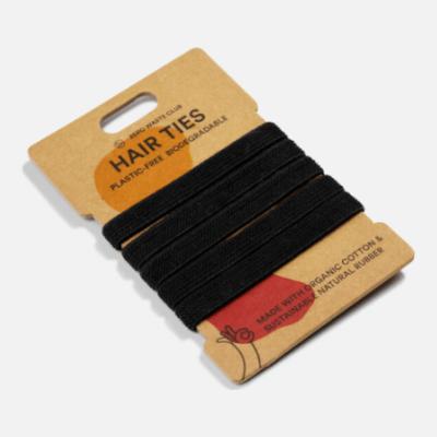 Zerowaste - Organic Cotton Hair Tie Black