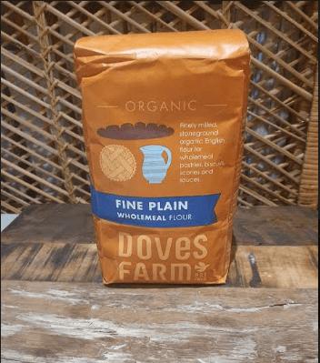 Doves Farm Organic Stoneground Fine Plain  Wholemeal Flour 1Kg