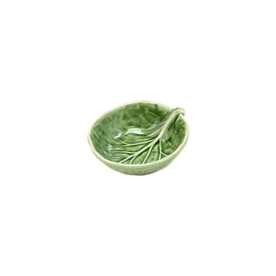 Van Verre - Handmade Bordallo Salt Bowl Green
