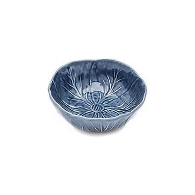 Van Verre - Handmade Bordallo Salt Bowl  Med 12Cm Delfts Blue