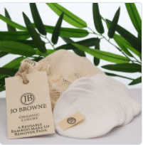 Jo Browne 6 Bamboo Make Up Remover Pads