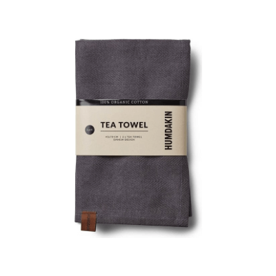 Humdakin - Organic Tea Towel - 2 Pack  Dark Ash