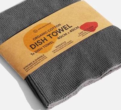 Zerowaste Organic Cotton Dish Towel - 40X40 Cm Ash Grey