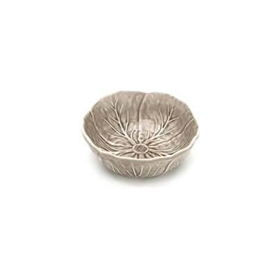 Van Verre - Handmade Bordallo Salt Bowl Med 12 Cm  Beige