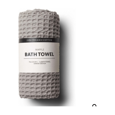 Humdakin - Organic Cotton Waffle Bath Towel Stone Colour