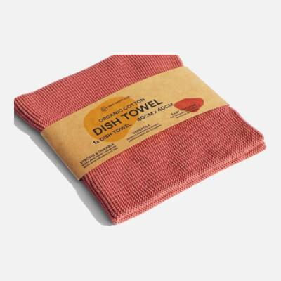 Zerowaste Organic Cotton Dish Towel - 40X40 Cm Light Peach