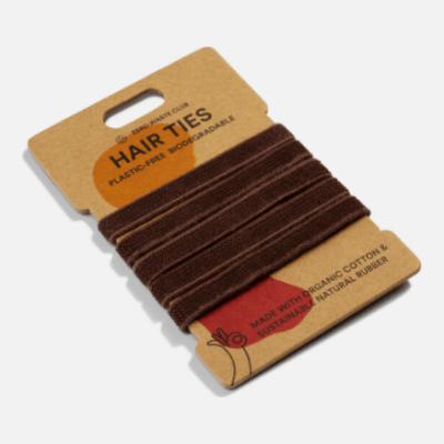 Zerowaste - Organic Cotton Hair Tie Brown