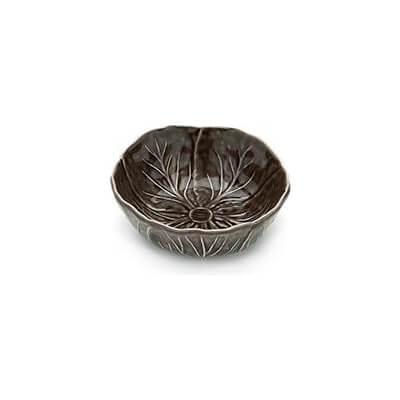 Van Verre - Handmade Bordallo Salt Bowl Med 12 Cm Brown