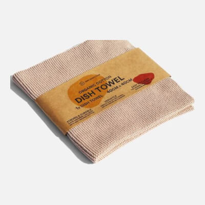 Zerowaste Organic Cotton Dish Towel - 40X40 Cm Sand