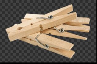 Clothes Pegs - Wooden Set Of 20