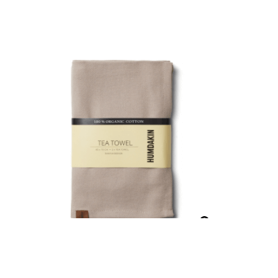 Humdakin - Organic Tea Towel - 2 Pack - Light Stone