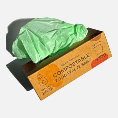 Zerowaste Compostable Bin Bags - Pack Of 100 - 10 Litre Bags
