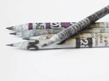 Newspaper Waste Pencils