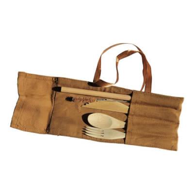 Fair Trade - Bamboo Cutlery Pouch Set