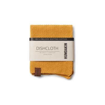 Humdakin - Organic Cotton Knitted Dishcloth Yellow