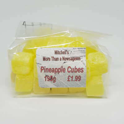 Old Fashioned Sweets - Pineapple Cubes