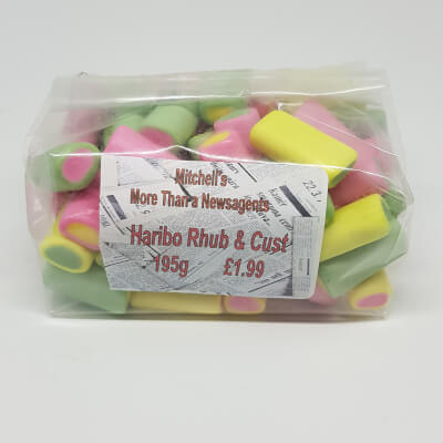 Old Fashioned Sweets - Haribo Rhubarb & Custards