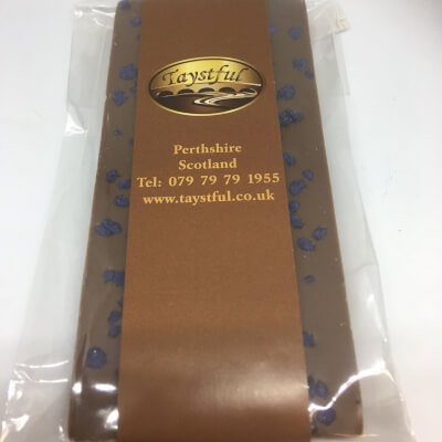 Taystful Milk Chocolate Bar With Crystallised Violet Sprinkles