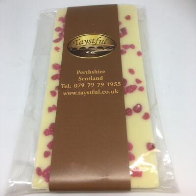 Taystful White Chocolate And Crystallised Rose Bar