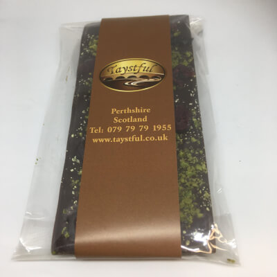 Taystful Cranberry And Pistachio Dark Chocolate Bar