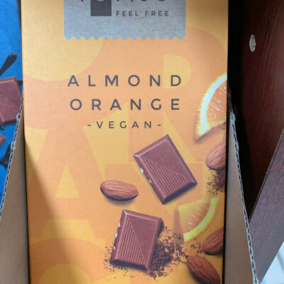 Vegan Chocolate -  Almond Orange