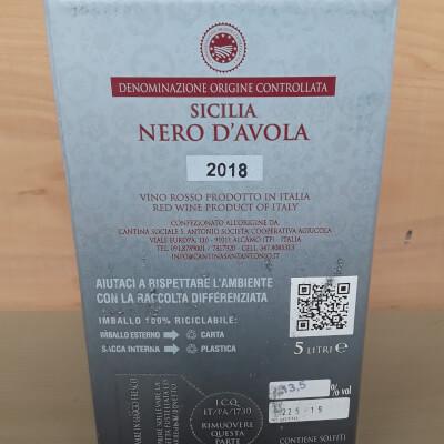 Sicilian Nero D Avola 5Ltr