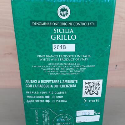 Sicilia Doc Grillo 5Ltr