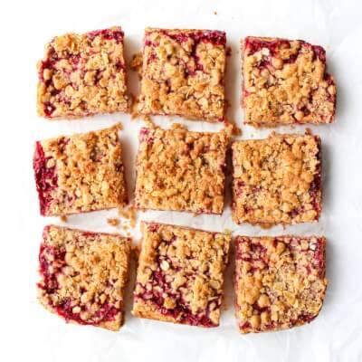 Raspberry Crumb Bar Traybake