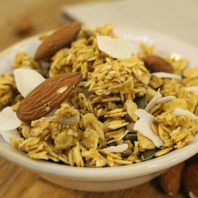 Coconut And Almond Granola: Properly Coconutty