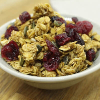 Cranberry And Orange Granola: Chewy And Tangy