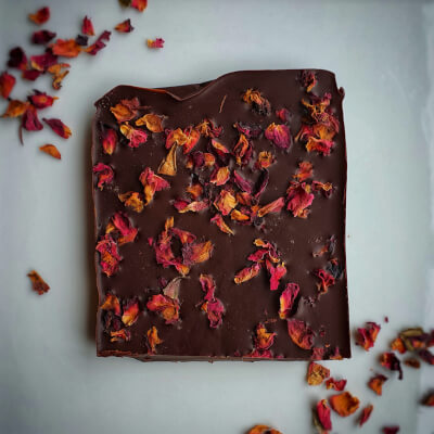 Dark Chocolate & Rose Petals (Vegan)