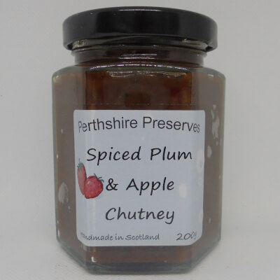 Spiced Plum Apple Chutney