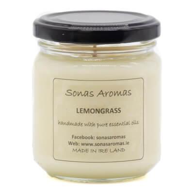 Lemongrass Candle Black Lid