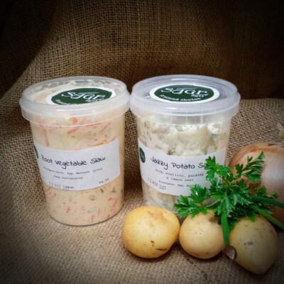 Root Vegetable Slaw &  Potato Salad