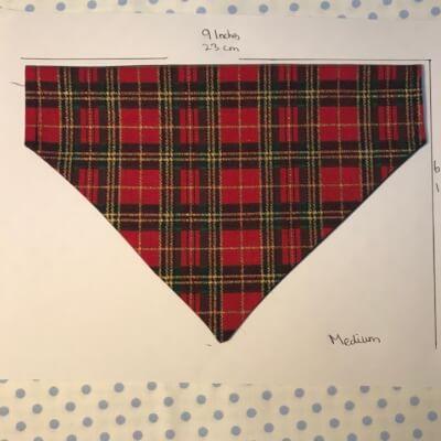 Medium Dog Bandana - Xmad Red Tartan Print