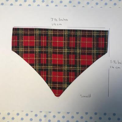 Small Dog Bandana - Xmas Red Tartan Print