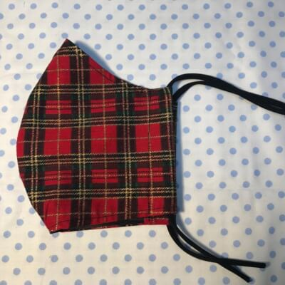 Christmas Face Covering - Red Tartan Print