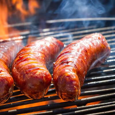Hickory Smoked Venison Sausages