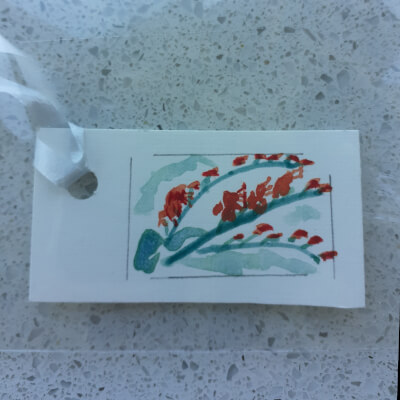 Irish Wildflower Gift Tag Collection - Fuchsia