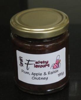 Plum Apple And Raisin Chutney