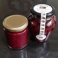 Raspberry Jam With Cherries In Kirsch